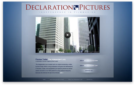 web site home page for Declaration Pictures