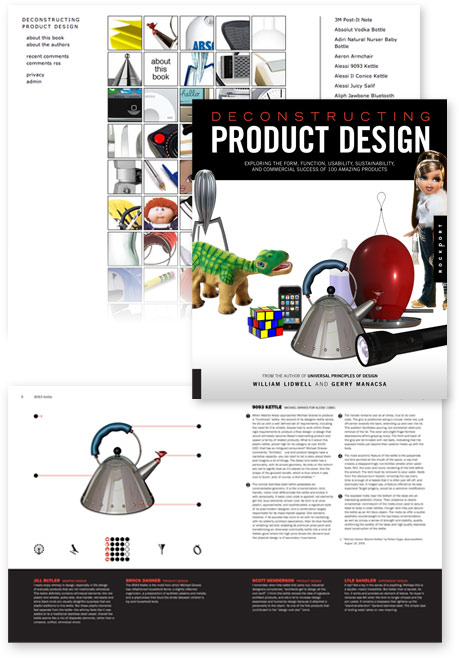 views of Deconstructing Product Design book and web site